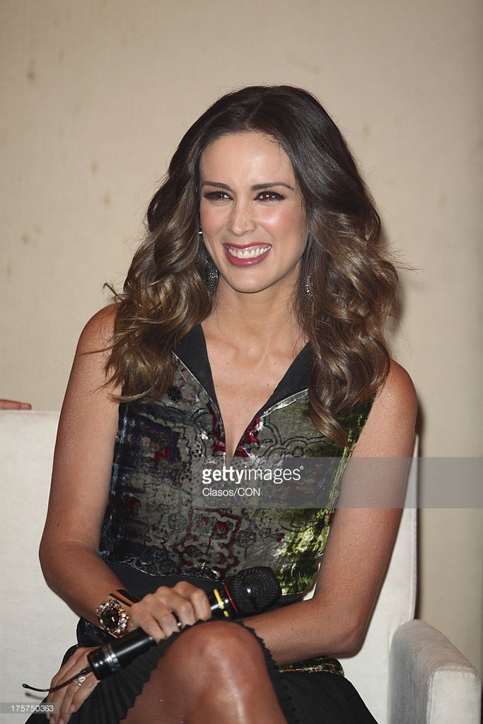 Jacqueline Bracamontes poses during the press conference of the TV show La Voz Mexico on August 06, 2013 in Mexico City, Mexico.