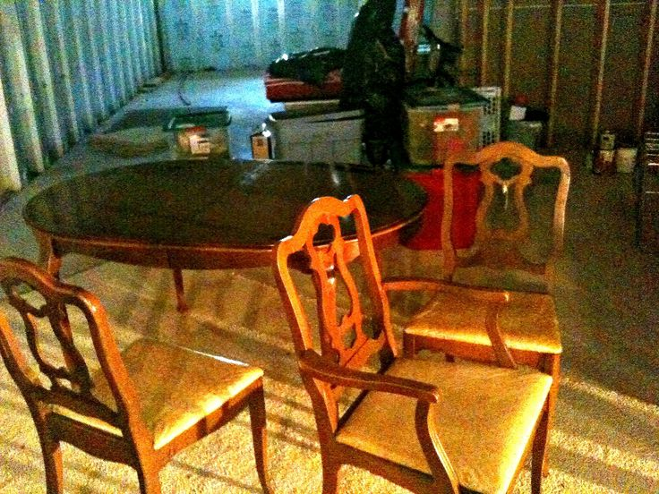 Refurbished Dining Table and Chairs