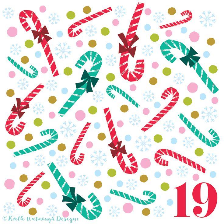Candy Canes for day 19.  #makeitindesign #surfacepattern #surfacepatterndesign #candycanes #advent #adventcalendar #adventcalendarart #adventcalendar2017 #adventchallenge2017 #christmascountdown #christmascalendar #christmas #freelance #freelancedesigner #christmas2017 #kathwatmoughdesigns www.instagram.com/kathwatmough