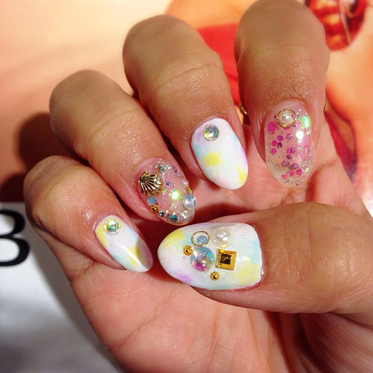 summer nail #nail#japan#shell#nailart