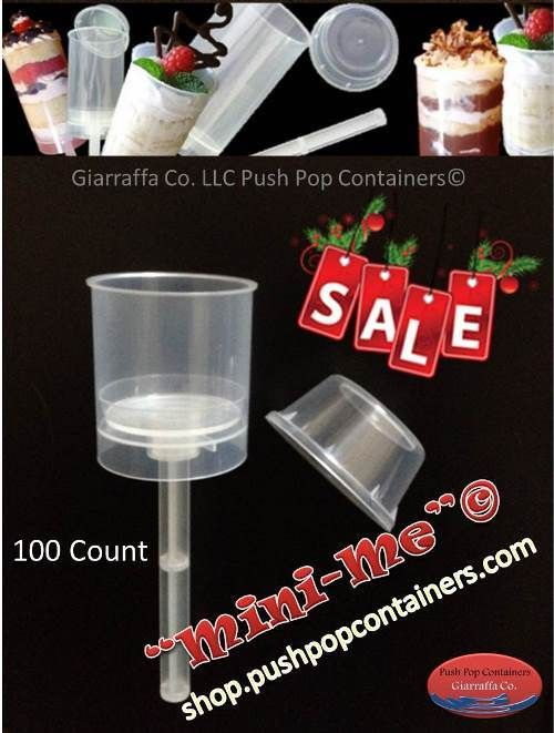 (http://shop.pushpopcontainers.com/mini-me-push-up-pop-containers-with-tall-lids-100-count/)Stocck up and save! Our Mini Me Push Pop Containers are Just $45.00 for 100 count During our Christmas Sales Event : )
