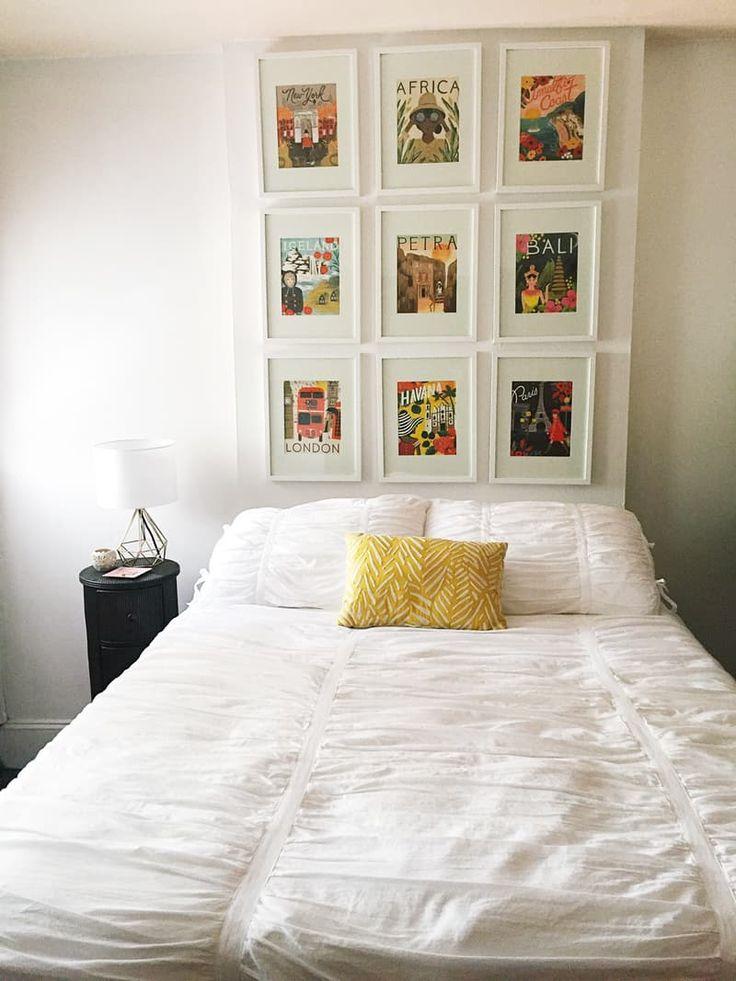 Best 25 no headboard ideas on pinterest bedroom decor for Quick easy headboard ideas