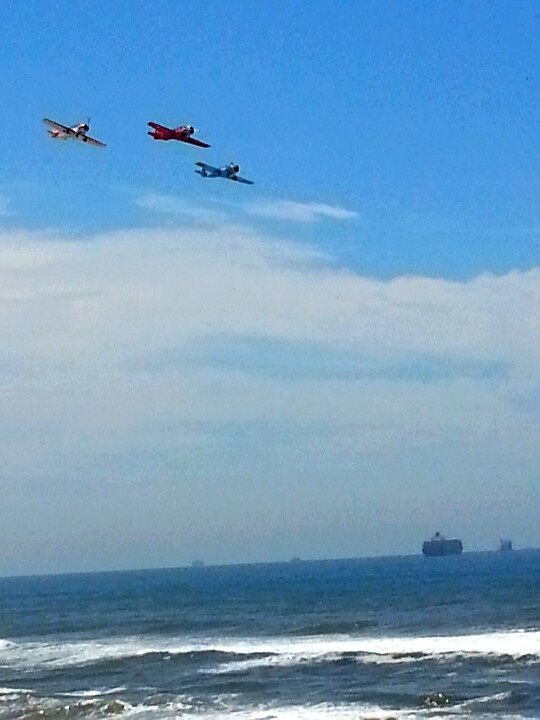 Planes flying above the beach @ Umhlanga Rocks South Africa