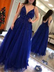 ericdress / A-Line Sleeveless Spaghetti Straps Beading Evening Dress 2019