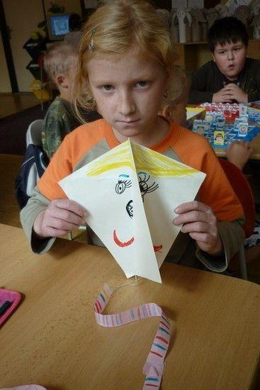 papírový drak z 1 listu papíru