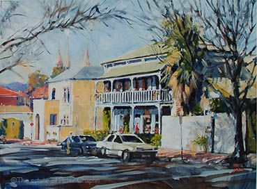 'Kermode Street, North Adelaide', oil on paper, image size 70 cm x 45 cm  $1200.   ©The estate of Peter Chaplin. All rights reserved.