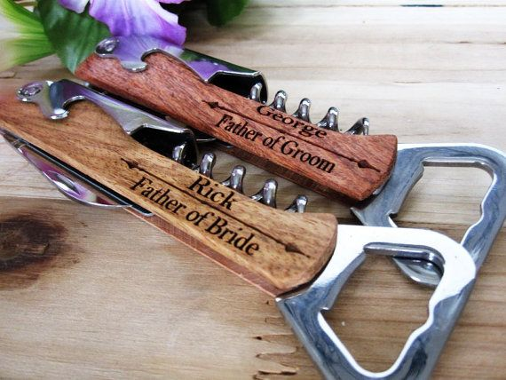 Bridal Party Personalized Bottle Opener  Groomsmen Gift