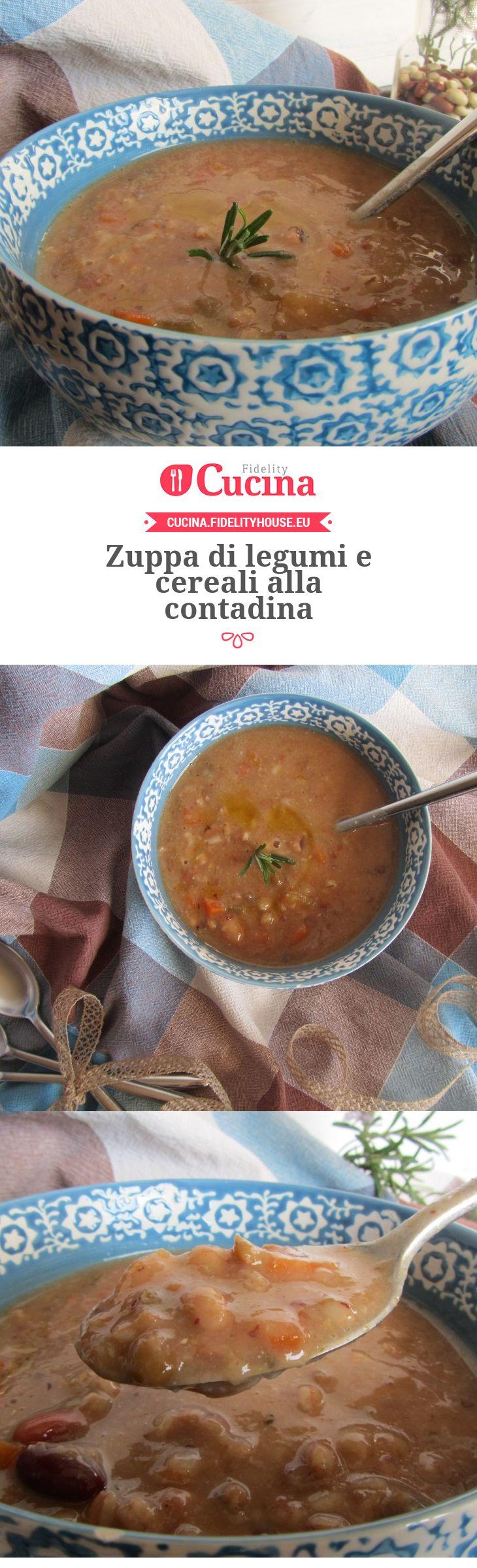Zuppa di legumi e cereali alla contadina