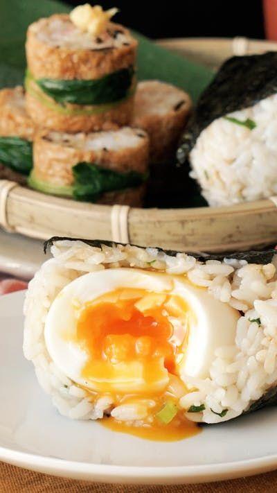 きつねロール&たぬきにぎり ~ レシピ | Tastemade