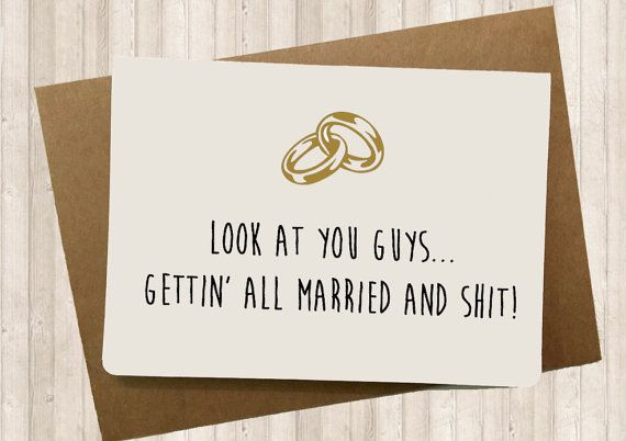 Funny Wedding card Funny Engagement card  Sarcastic by SpicyCards