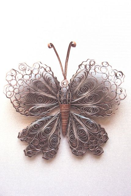 Quilling butterfly.  Made with paper.