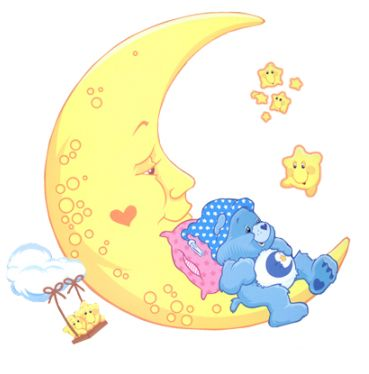 Care Bear Bedtime Bear with the Moon Star- Actually have this as a tattoo :-)