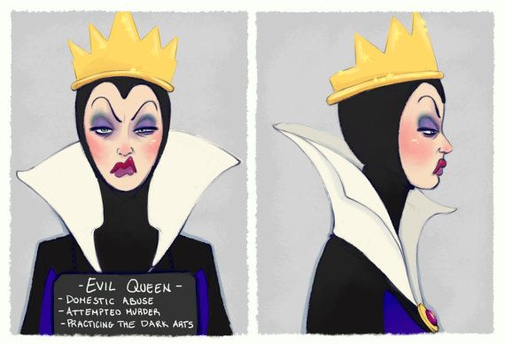 Villain Mugshots  Evil Queen by HaaappyAccidents on Etsy