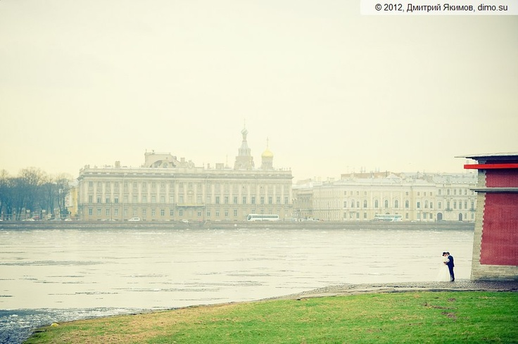 Petersburg panorama wedding