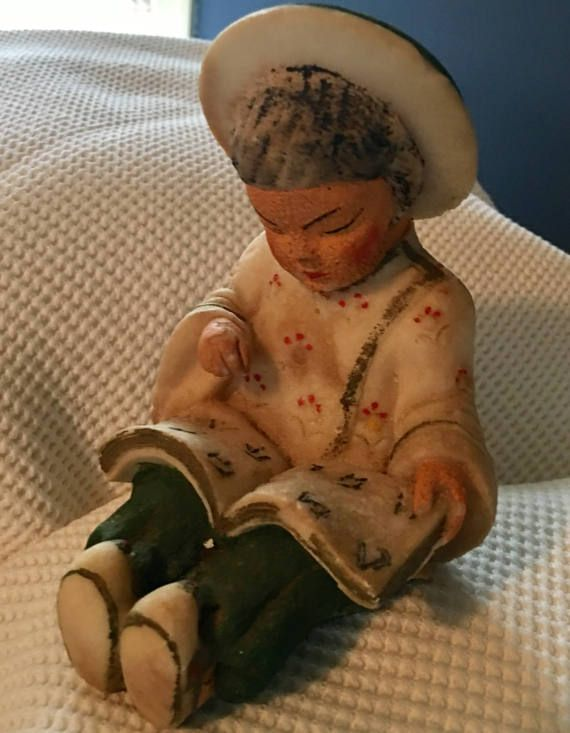 Hey, I found this really awesome Etsy listing at https://www.etsy.com/listing/507172746/vintage-salt-stone-asian-child-reading-a