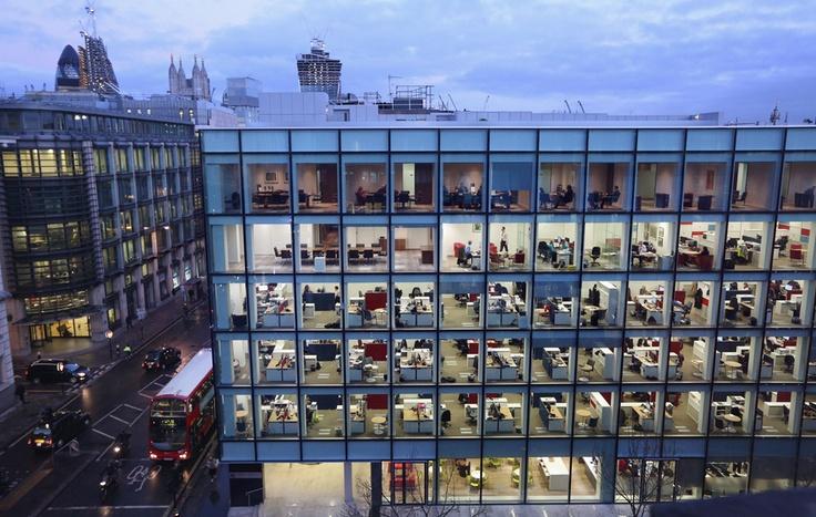 Uffici a Londra, nel Regno Unito. (Oli Scarff, Getty Images)