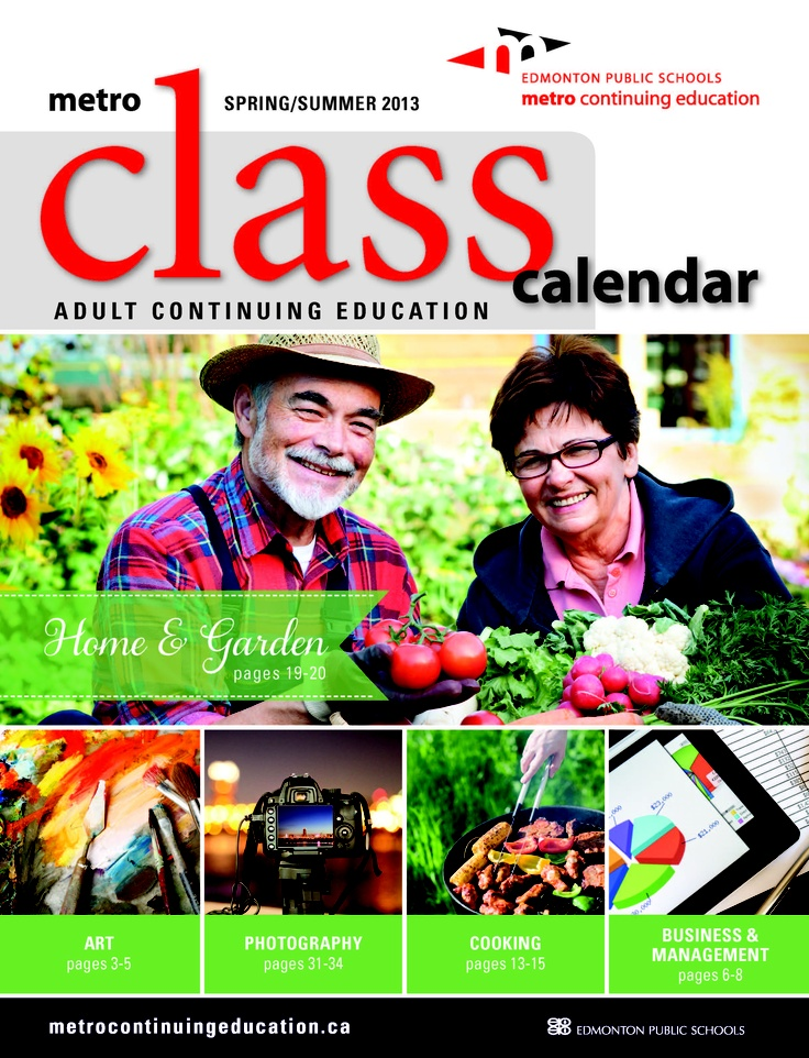 Are you ready for spring?? We are!! Our (first ever) Spring & Summer  Class Calendar is now out! Browse over 200 courses in Home & Garden, Cooking, Photography and much more!