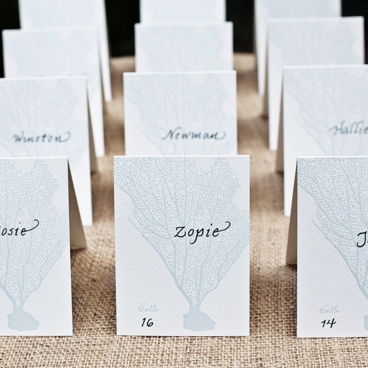 mr studio coral escort cards wedding