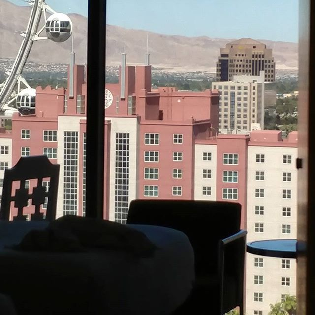 """""""This is the view from the room across the hall, which is the same set up as the video I posted. But...the view of the High Roller (the name of that giant Ferris wheel in the background) is pretty neat! #VegasLife"""" by @thesocialvixen (Kristen Colapinto). #turismo #instalife #ilove #madeinitaly #italytravel #tour #passportready #instavacation #natgeotravel #mytinyatlas #traveldeeper #travelawesome #travelstoke #travelwriter #lonelyplanet #instalive #ilovetravel #instatravelling #getaway…"""