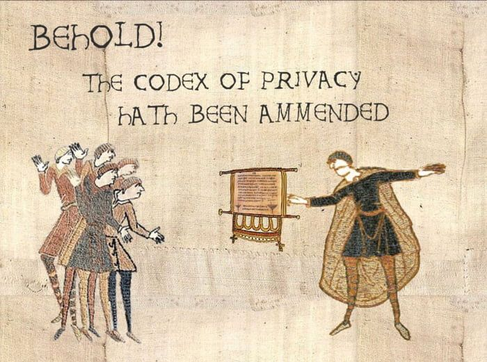 Privacy policy image  The codex of privacy!!