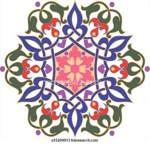 flower pattern Arabesque Design