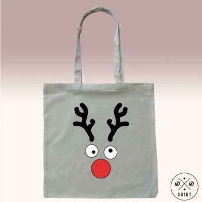Eko torba z reniferem. Fajny pomysł na prezent pod choinke. Eco bag with raindeer, buy as christmas gift www.ddshirt.pl