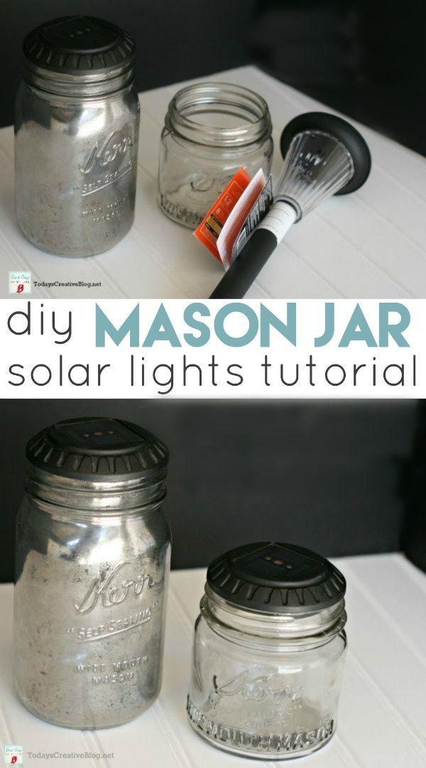Diy Mason Jar Solar Lights In 2020 Mason Jar Solar Lights Diy Mason Jar Lights Solar Mason Jars