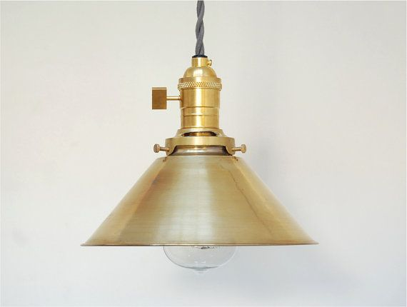 Industrial pendant light brass pendant light modern for Brass kitchen light fixtures