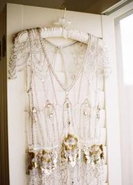 Gold, sparkle wedding dress: #weddingdress #gold: http://jemmakeech.com/