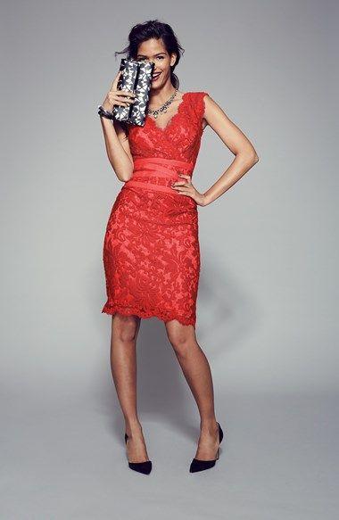 coral lace sheath dress wedding guest dress #weddingguestdress ...