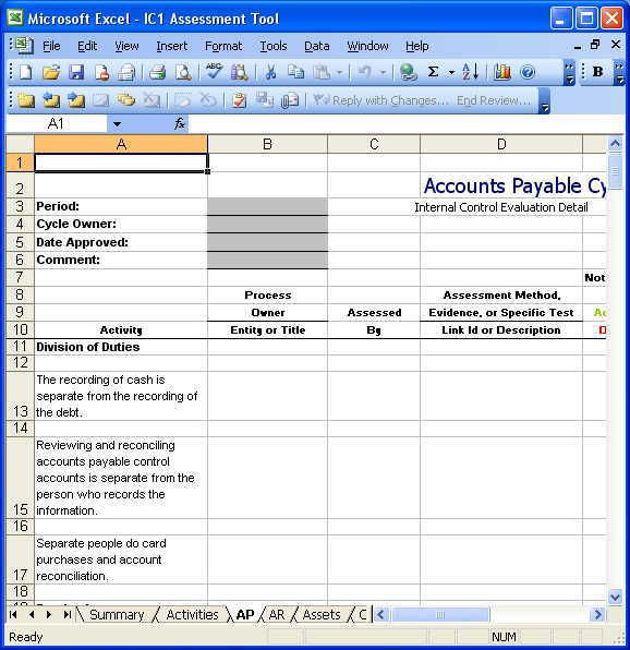Internal Control of Accounts Payable
