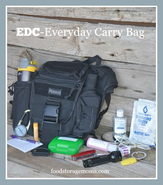 EDC Bag-The Printable List You Really Need| By FoodStorageMoms.com