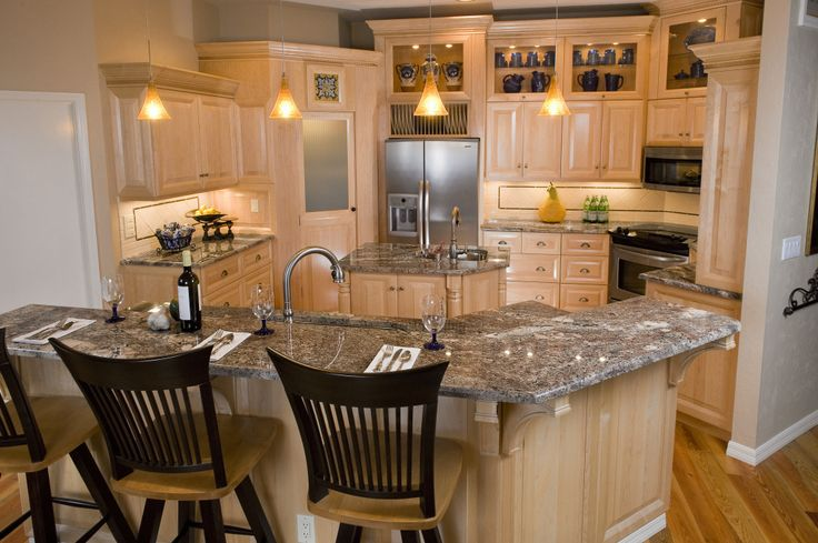 White Washed Oak Cabinets S057 Granite Kitchen White