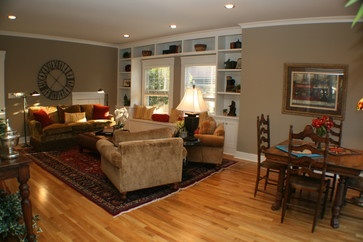Family Room In Vintage Home Eclectic Family Room Classic Interior Design Walls Are