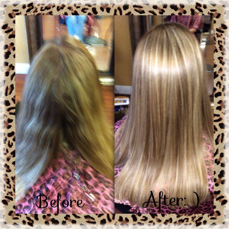 Before Amp After Blonde Highlights Dark Blonde Lowlights
