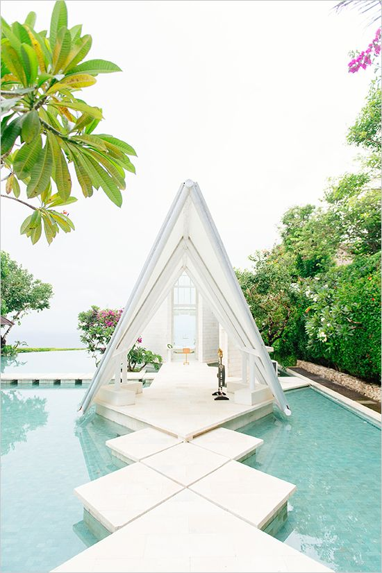 Pool Wedding Ideas a whimsical spring garden wedding Find This Pin And More On Pool Side Wedding
