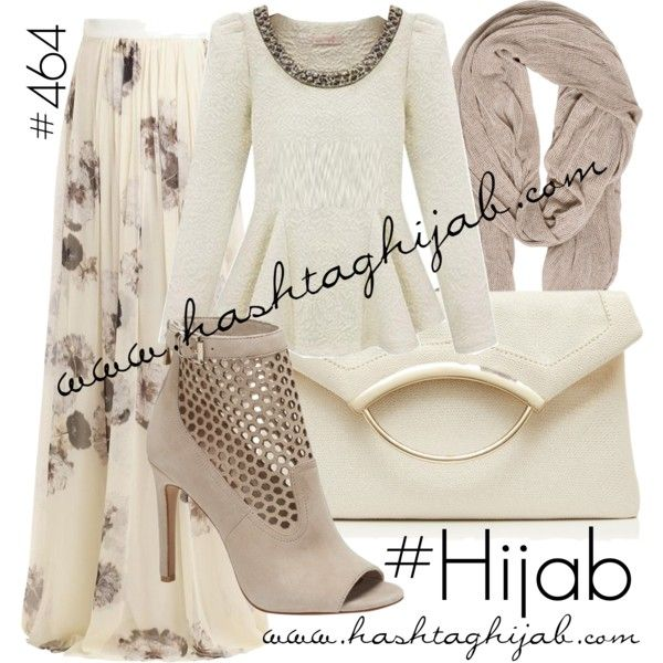 Hashtag Hijab Outfit #464 by hashtaghijab on Polyvore featuring Giambattista Valli, Vince Camuto, Forever New, TRANSIT and hijab