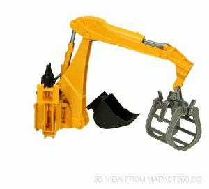 Rear Hydraulic Arm with Grab Bruder 02338