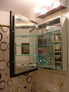 adding a frame to your old medicine cabinet