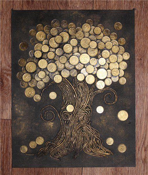 Денежное дерево в рамке своими руками мастер класс