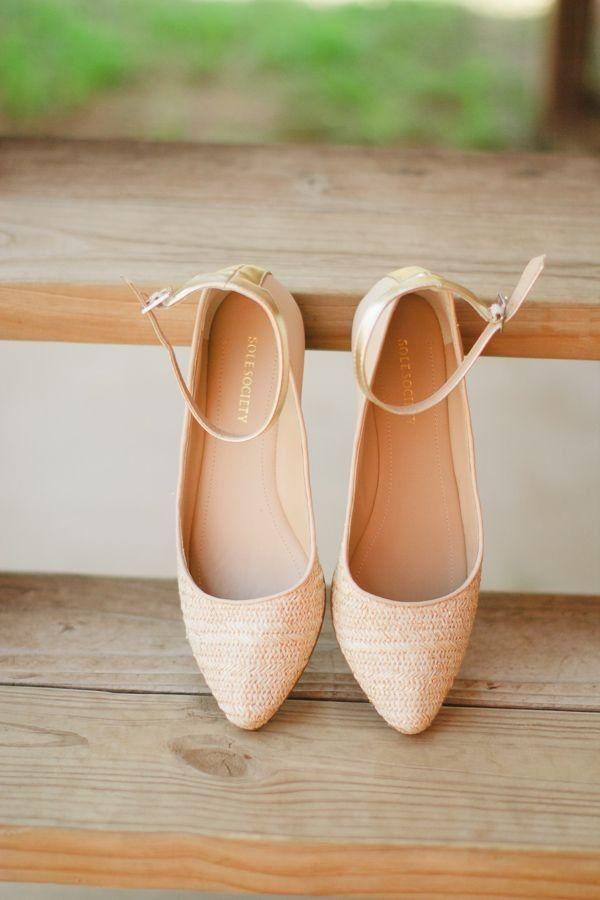 elegant blush pink wedding shoes