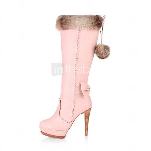 suède naaldhak platform laarzen met strik feest / avond schoenen