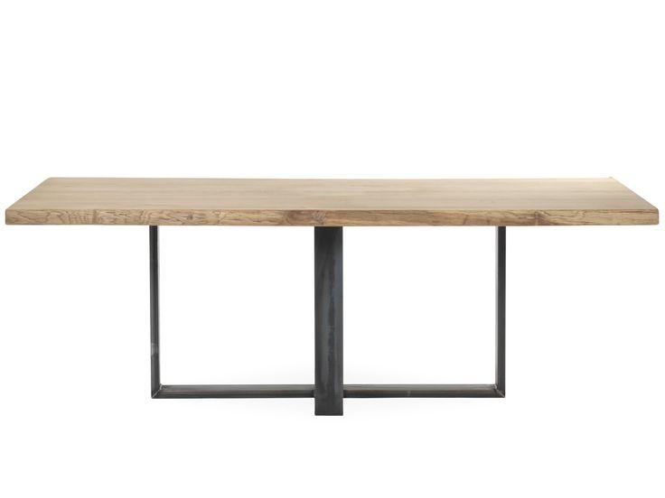 Afbeeldingsresultaat voor tafel met stalen onderstel