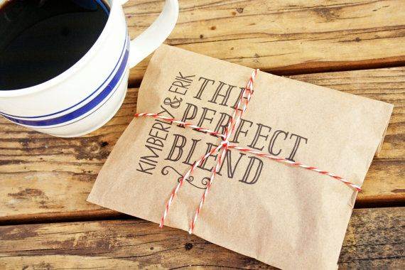 The Perfect Blend  Wedding Coffee Favor Bag  25 Bags by mavora, $22.50