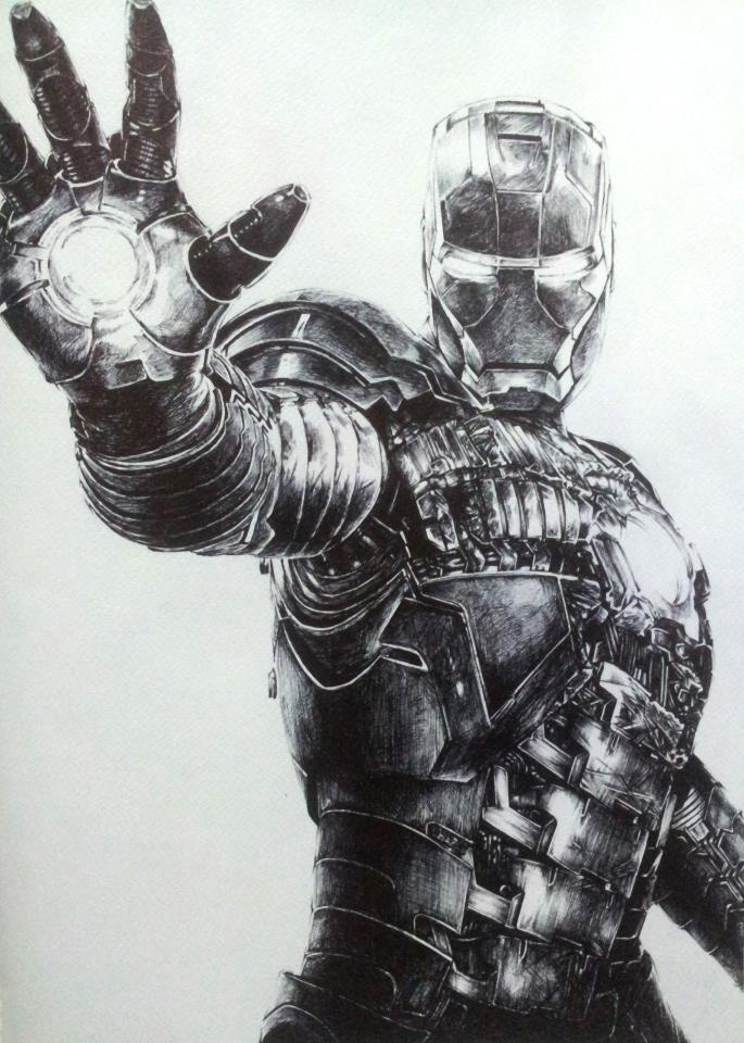 pencil drawing of Iron man   Iron man drawing, Superhero ...