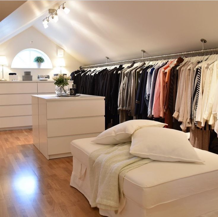 This closet has so much space, I'd just live n it.