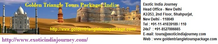 http://www.goldentriangletourspackage.com/  Exotic India Journey offers you several packages based on North India and Golden Triangle India tour. Choose Indian Golden Triangle packages and enjoy your life.