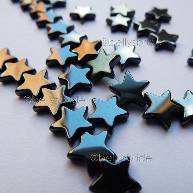 Hematite Star Beads for Jewellery Making 6 mm x 50 #Unbranded