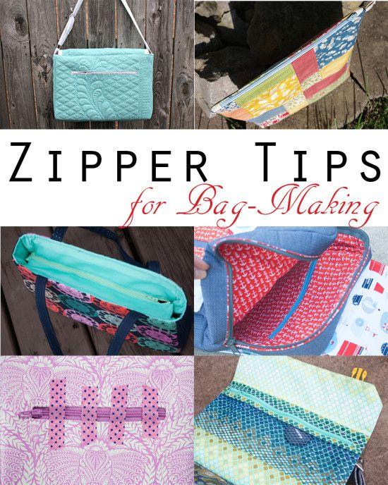 Zipper Tips for Bag-Making (Sew Sweetness)