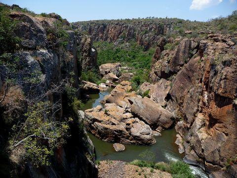Blyde River Canyon - Panorama Route - Mpumalanga - Landkaart Zuid Afrika || Op reis naar Zuid Afrika: Zuid Afrika reizen en accommodaties in Zuid Afrika!